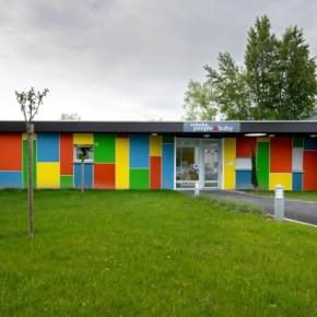 Crèche People and Baby de Moirans Battaglino - entreprise de peinture - façade ravalement